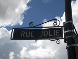 Pretty street sign