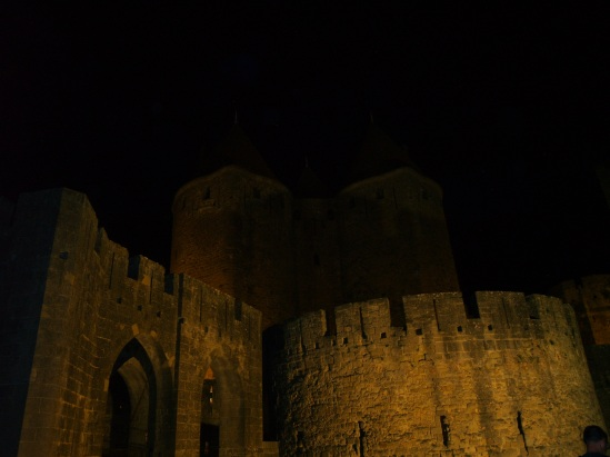 La cite de Carcassonne at night